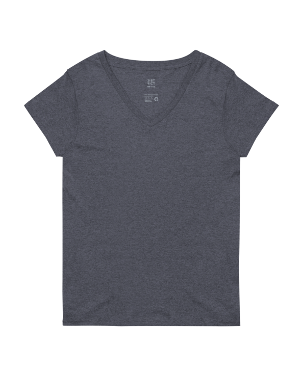 Women's Recycled V-Neck T-Shirt   District DT8001