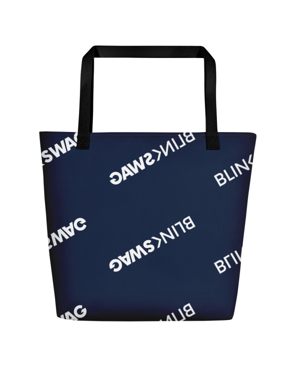 All-Over Print Large Tote Bag w/ Pocket